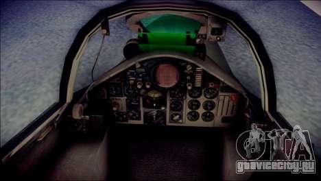 McDonnell Douglas F-4F Luftwaffe для GTA San Andreas вид сзади