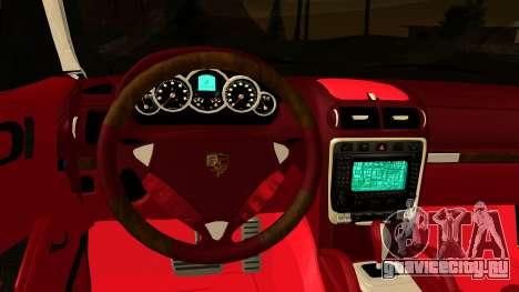 Porsche Cayenne S 2015 для GTA San Andreas вид изнутри