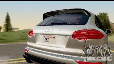Porsche Cayenne S 2015 для GTA San Andreas вид справа