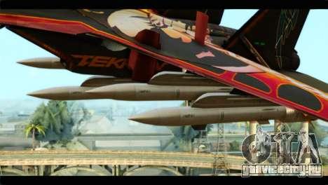 SU-35 Flanker-E Tekken для GTA San Andreas вид справа