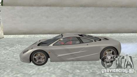 1992 McLaren F1 Clinic Model Custom Tunable v1.0 для GTA San Andreas вид справа