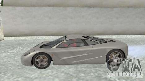 1992 McLaren F1 Clinic Model Custom Tunable v1.0 для GTA San Andreas вид справа