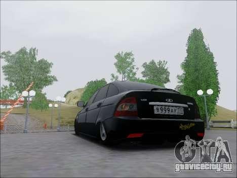 Lada Priora Hatchback для GTA San Andreas вид справа
