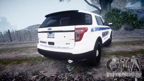Ford Explorer Police Interceptor [ELS] slicktop для GTA 4 вид сзади слева