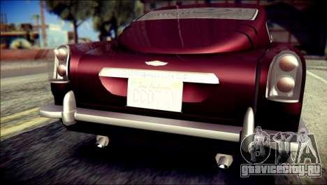 GTA 5 Dewbauchee JB 700 для GTA San Andreas вид сзади