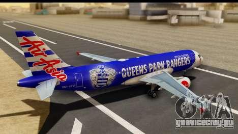 Airbus A320-200 AirAsia Queens Park Rangers для GTA San Andreas вид слева