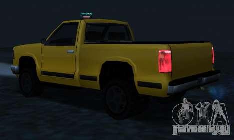 PS2 Yosemite для GTA San Andreas вид снизу