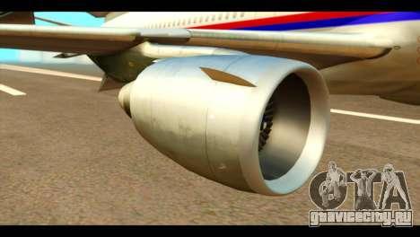 DC-10-30 PLL LOT для GTA San Andreas вид справа