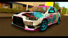 Mitsubishi Lancer Evolution X 2008 Miku Racing для GTA San Andreas
