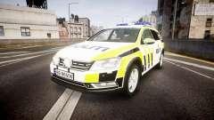 Volkswagen Passat B7 Police 2015 [ELS] marked для GTA 4