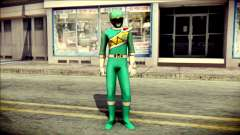 Power Rangers Kyoryu Green Skin