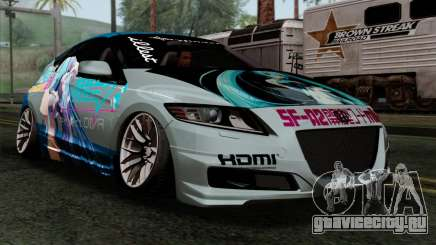 Honda CRZ Mugen Stance Miku Itasha для GTA San Andreas