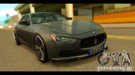 Maserati Ghibli S 2014 v1.0 EU Plate для GTA San Andreas