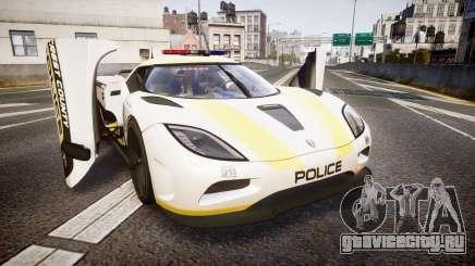 Koenigsegg Agera 2013 Police [EPM] v1.1 Low Qual для GTA 4