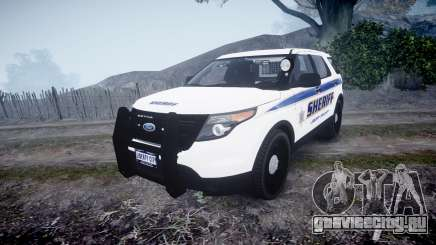 Ford Explorer Police Interceptor [ELS] slicktop для GTA 4