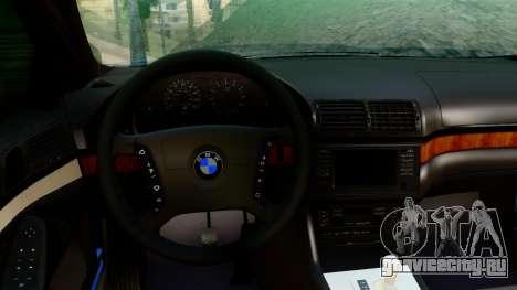 BMW 540i E39 для GTA San Andreas вид сзади слева