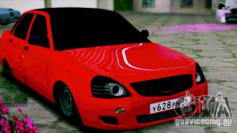 Lada 2170 Priora Спартак Москва для GTA San Andreas вид слева