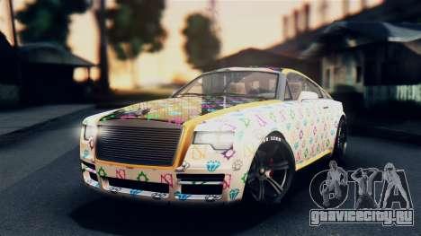 GTA 5 Enus Windsor IVF для GTA San Andreas вид сбоку