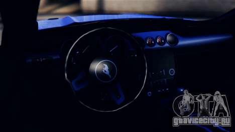 Ford Mustang GT 2015 для GTA San Andreas вид сзади