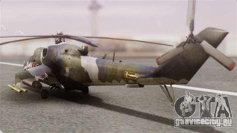 Mil Mi-24V Czech Air Force Tigermeet для GTA San Andreas вид слева