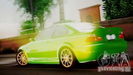 BMW M3 E46 v2 для GTA San Andreas вид справа