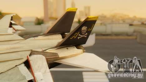 F-14A Tomcat VF-202 Superheats для GTA San Andreas вид сзади слева