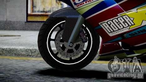 Bike Bati 2 HD Skin 2 для GTA 4 вид сзади слева