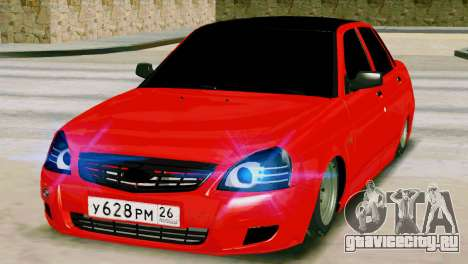 Lada 2170 Priora Спартак Москва для GTA San Andreas вид снизу
