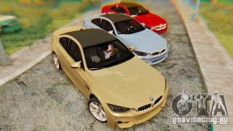 BMW M4 2015 IVF для GTA San Andreas вид слева