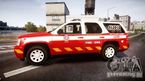 Chevrolet Tahoe 2013 Battalion Chief Unit [ELS] для GTA 4 вид слева