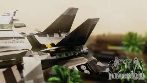 F-14D Super Tomcat VF-2 Bounty Hunters для GTA San Andreas вид сзади слева