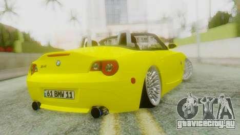 BMW Z4 Ens Yapım для GTA San Andreas вид слева