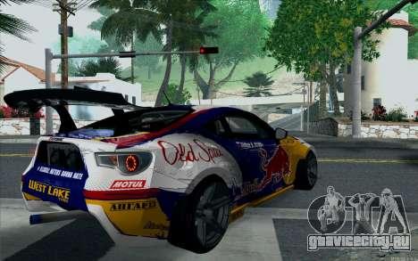 Toyota GT86 Red Bull для GTA San Andreas вид слева
