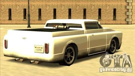 Slamvan Final для GTA San Andreas вид изнутри