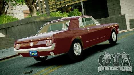 Ford Mustang 1965 для GTA 4 вид слева