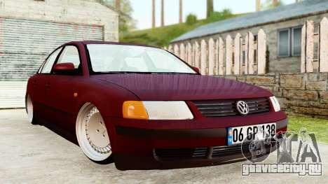 Volkswagen Passat B5 1.8 ADR для GTA San Andreas вид сзади слева