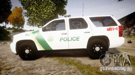 Chevrolet Tahoe Niagara Falls Parks Police [ELS] для GTA 4 вид слева