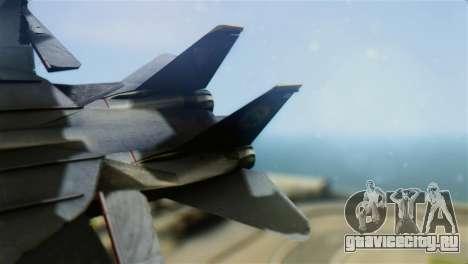 F-14D Super Tomcat Halloween Pumpkin для GTA San Andreas вид сзади слева