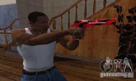 Black Lines Deagle для GTA San Andreas второй скриншот