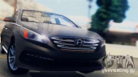 Hyundai Sonata 2015 для GTA San Andreas вид сзади слева