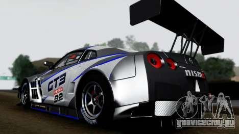 Nissan GT-R (R35) GT3 2012 PJ3 для GTA San Andreas вид справа