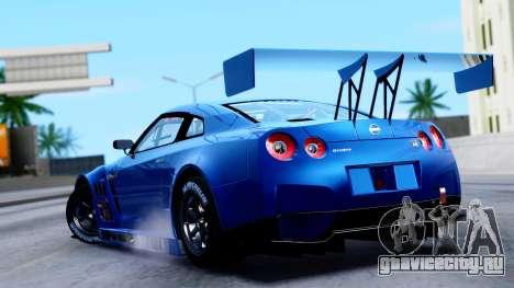Nissan GT-R (R35) GT3 2012 PJ2 для GTA San Andreas вид слева
