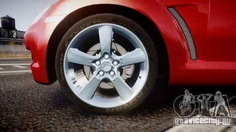 Mazda RX-8 2006 v3.2 Advan tires для GTA 4 вид сзади