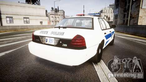 Ford Crown Victoria Indiana State Police [ELS] для GTA 4 вид сзади слева