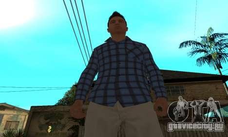 Skin Claude [HD] для GTA San Andreas четвёртый скриншот