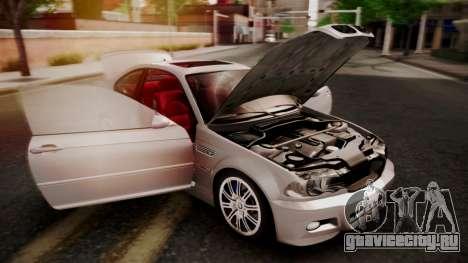 BMW M3 E46 v2 для GTA San Andreas вид снизу