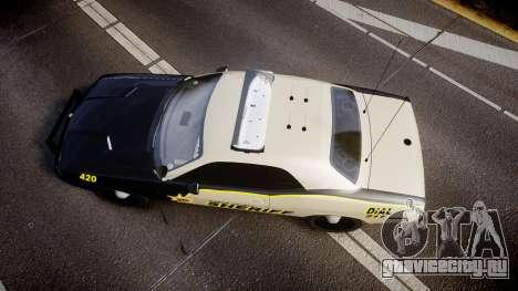 Dodge Challenger MCSO [ELS] для GTA 4 вид справа