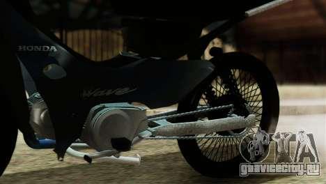Honda Wave Stunt для GTA San Andreas вид сзади