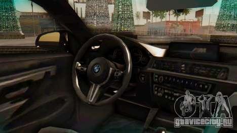 BMW M4 2015 IVF для GTA San Andreas вид справа