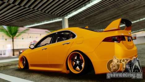 Acura TSX Hellaflush 2010 для GTA San Andreas вид сзади слева